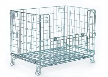 Cesto container su piedi e su ruote per negozio - Riganelli Arredamenti