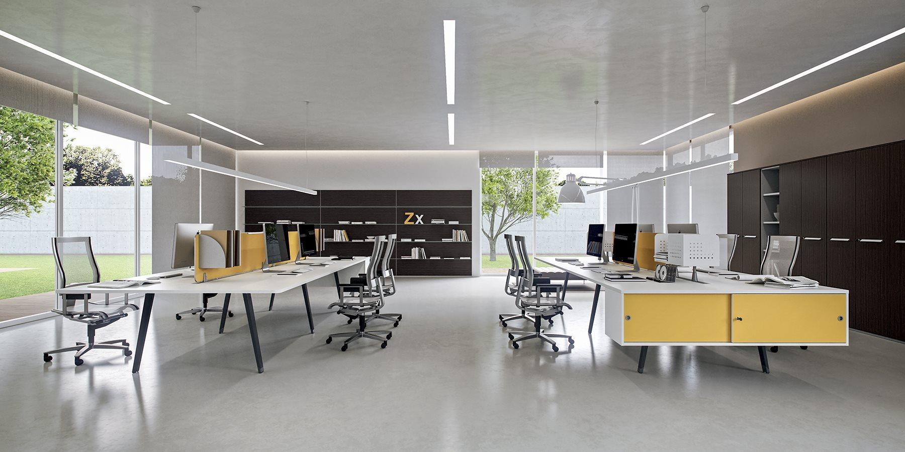 Smart working come sopravvivere nell ufficio open space for Open space moderni