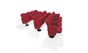 Kadenza poltrone con sedile ribaltabile per auditorium cinema teatro conferenze - riganelli
