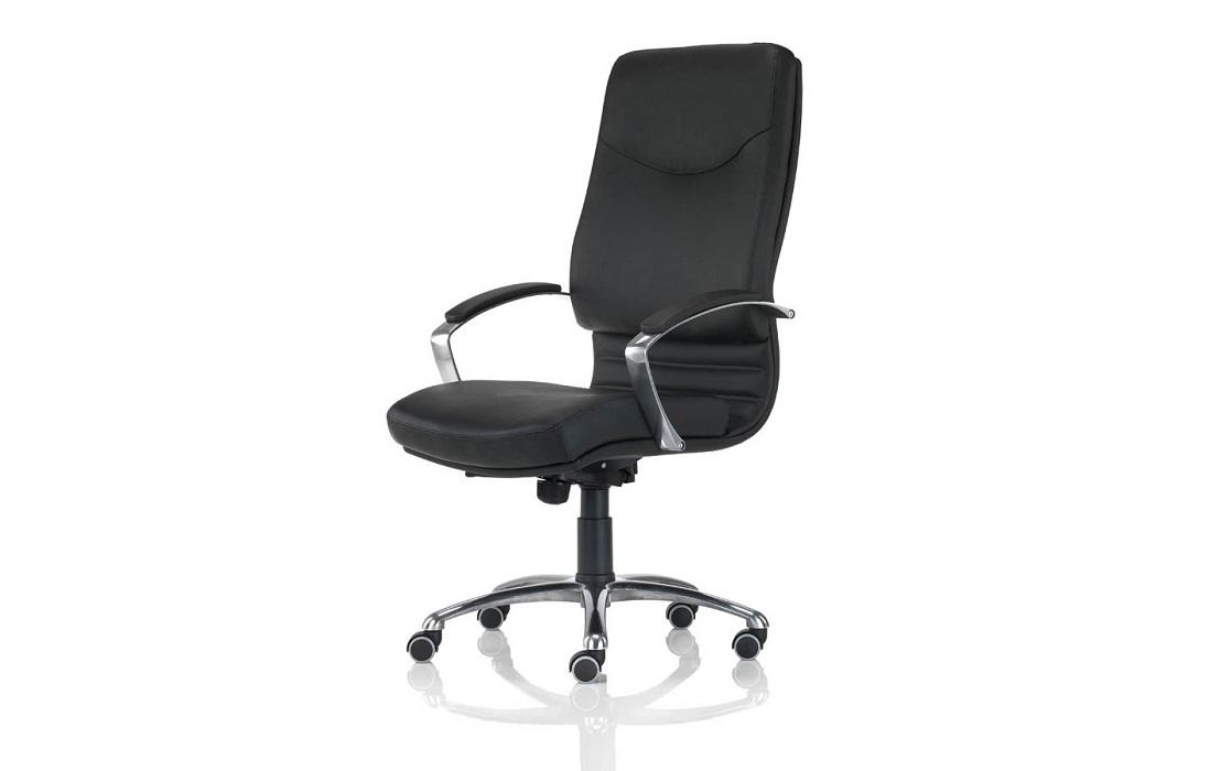 Poltrona-direzionale-nera-pelle-e-similpelle-akaba-per-ufficio-Riganelli-Arredamenti