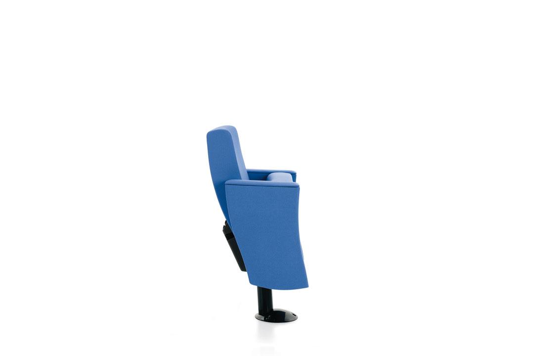 Poltrona victory con base circolare sedile ribaltabile auditorium - Riganelli Arredamenti