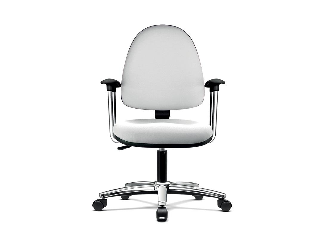 Q.web-er seduta ufficio operativo con braccioli cromati - riganelli