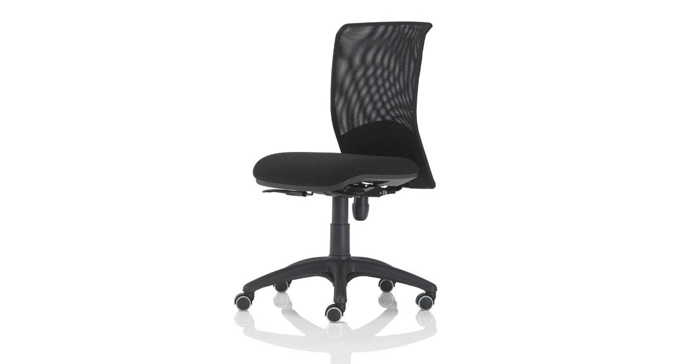 Quick bursa rete nera senza braccioli sedia operativa - Riganelli Uffici