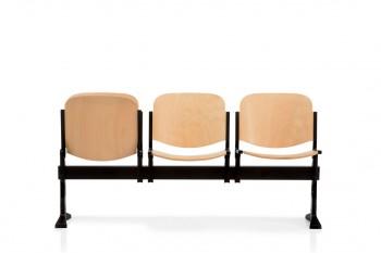 Seduta agorà sbr in faccio con sedile ribaltabile fissaggio a terra sala conferenza congressi collettività - Riganelli Arredamenti