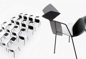 kalea-seduta-conferenze-con-tavoletta-ribaltabile-riganelli