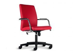 Max-seduta-ufficio-direzionale-rossa-riganelli