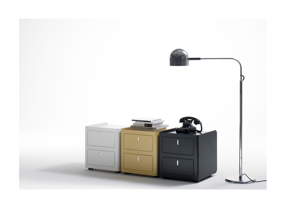 Cbox cassettiera 2 cassetti colorata design - Riganelli Arredamenti