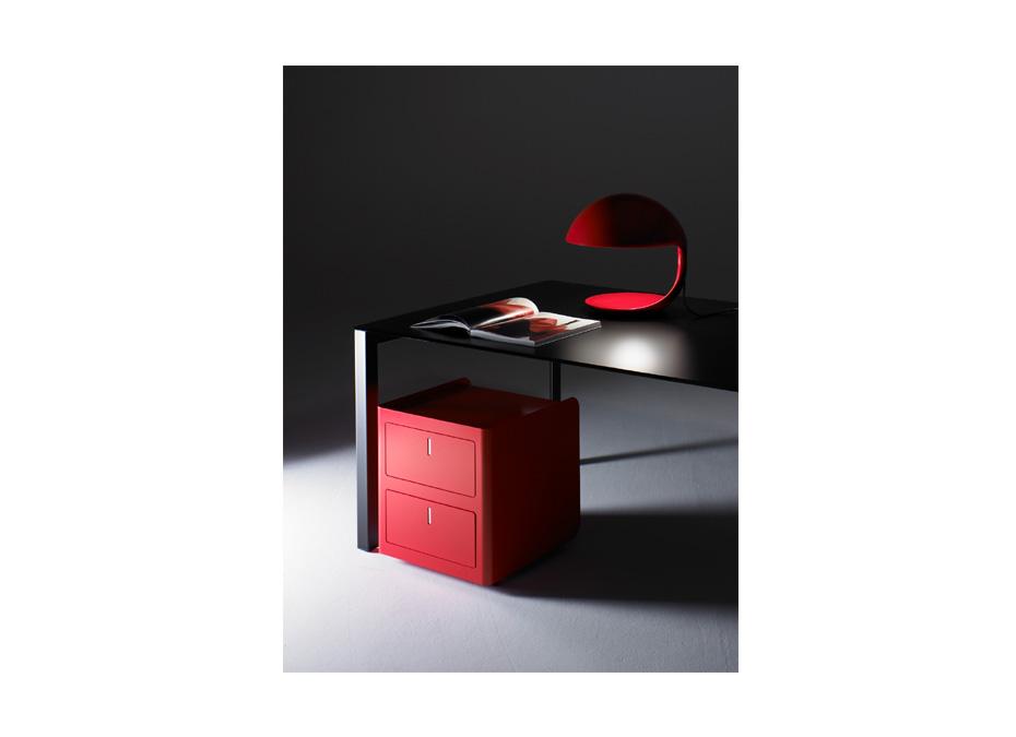 Cassettiera rossa ufficio cbox 2 cassetti su ruote - Riganelli Arredamenti