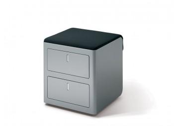 Cassettiera cbox cuscino nero per seduta - Riganelli Arredamenti