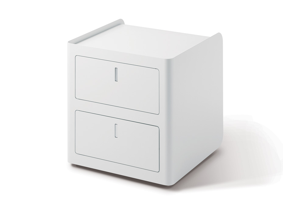 Cbox contenitore 2 cassetti ufficio bianco - Riganelli arredamenti