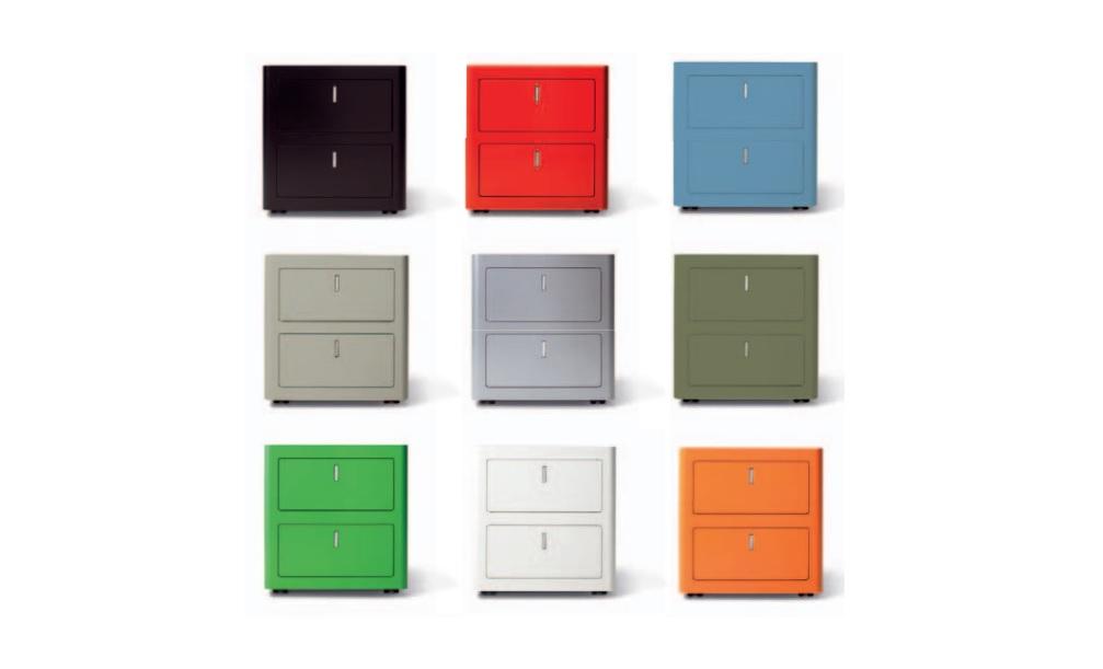 Cbox cassettiera colorata per ufficio - Riganelli Arredamenti