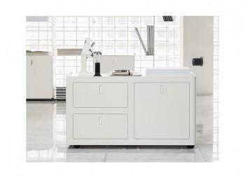 Contenitore cbox 2 cassetti e un classificatore bianca - Riganelli Arredamenti