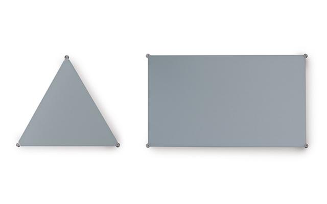 Pannello acustico fonoassorbente sipario triangolare rettangolare design - Riganelli Uffici