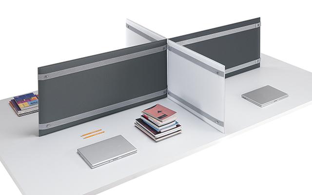 Pli desk pannelli acustici fonoassorbenti divisorio scrivania ufficio operativo open space - Riganelli Arredamenti