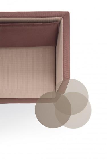 Dettaglio design kendo divanetto attesa e collettività - Riganelli Arredamenti