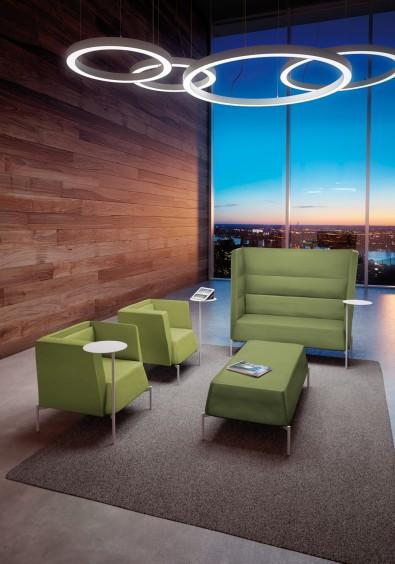 Kendo divanetto poltroncine pouf attesa di design - Riganelli Arredamenti