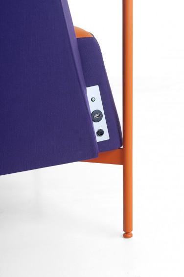 Kendo kit ricarica poltrona sala attesa di design - Riganelli Arredamenti