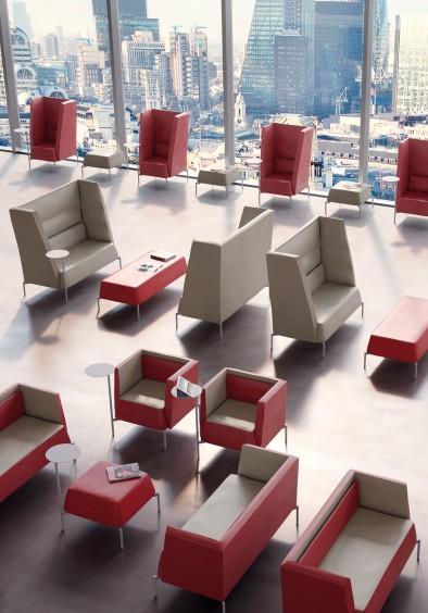 Kendo poltrone e divanetti attesa collettività studio ufficio - Riganelli Arredamenti