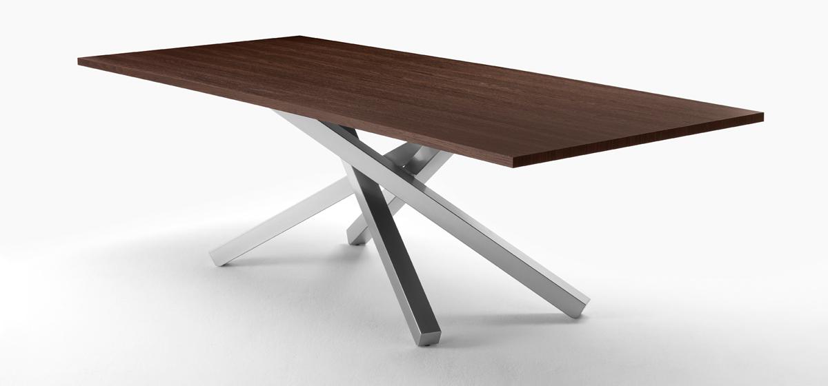 Pechino tavolo design con piano in legno - Riganelli Arredamenti
