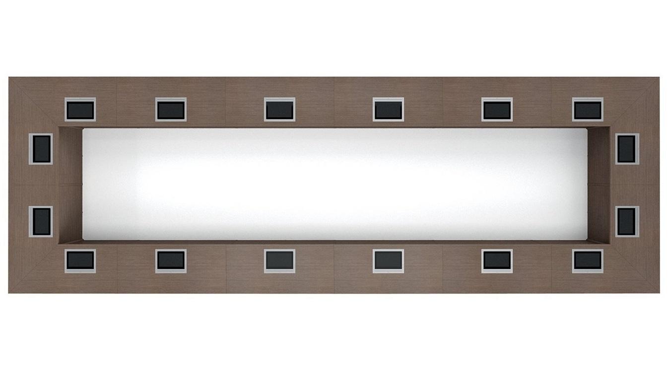 Dettaglio-tavolo-riunione-rettangolare-Riganelli-Arredamenti