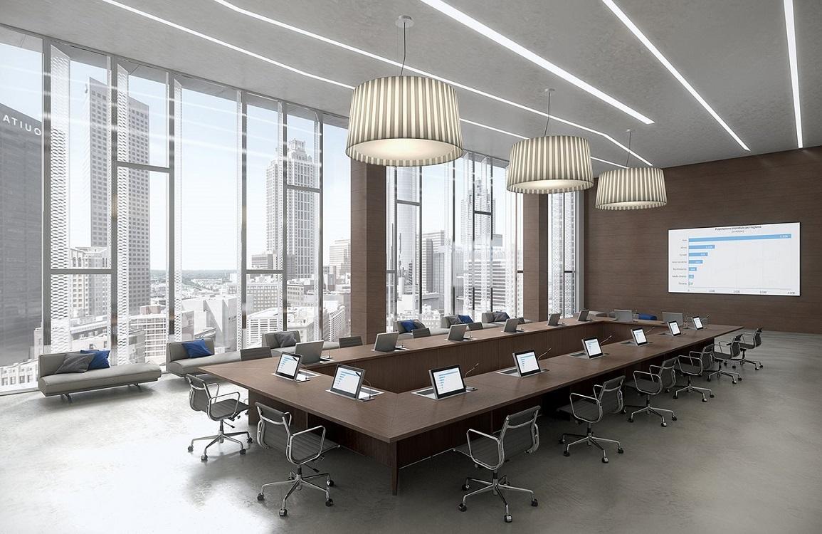 Tavolo-meeting-modulabile-postazioni-pc-Riganelli-Arredamenti