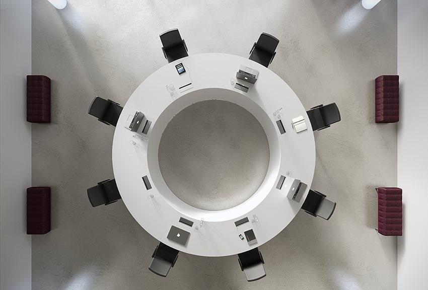 Tavolo-riunione-meeting-rotondo-di-design-Riganelli-Arredamenti