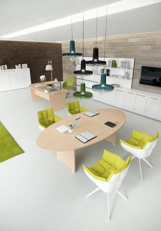 Tavolo-riunione-ovale-Treko-Riganelli-Arredamenti