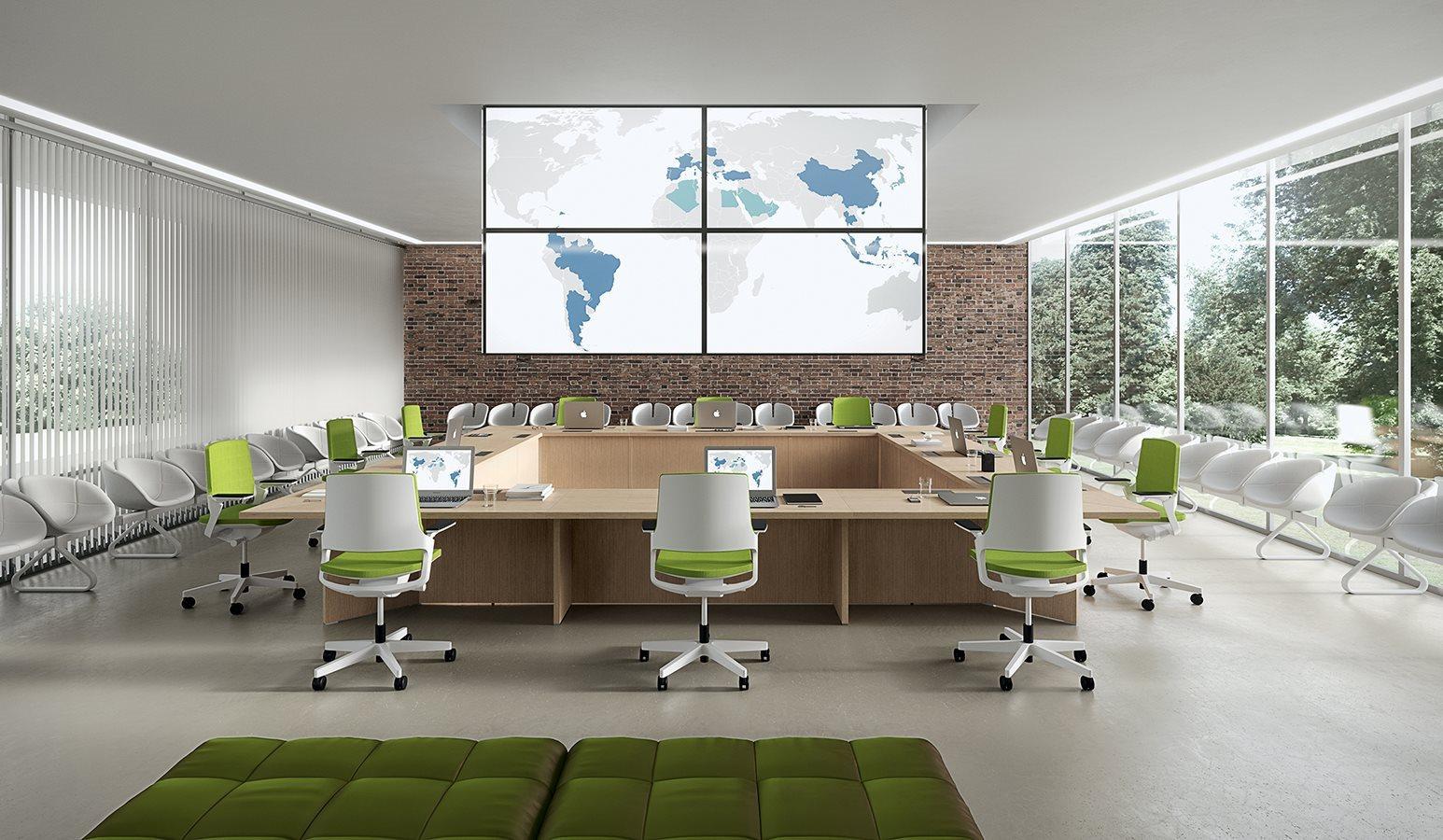 Tavoli riunione Tables DV Meet quadrato funzionale postazioni pc - Riganelli Arredamenti