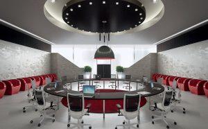 Tavolo-riunioni-rotondo-funzionale-e-di-design-Riganelli-Arredamenti