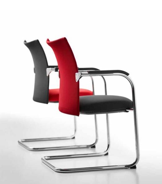 Sedute ricevimento ospiti ufficio operativo Just magic s mesh - Riganelli Arredamenti