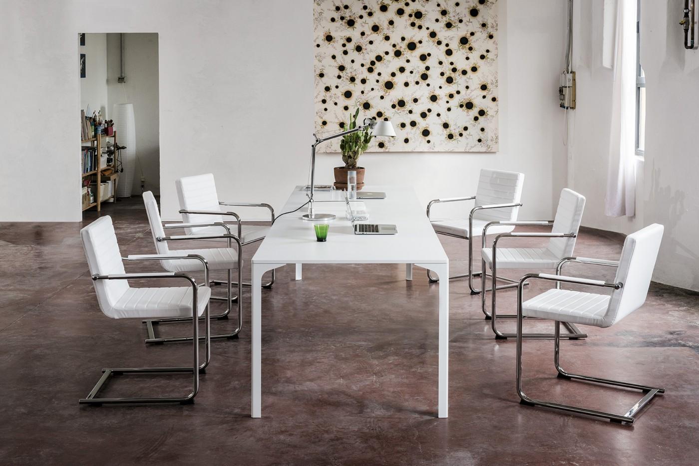 Tavolo Armando semplice casa ufficio riunione collettività - Riganelli Arredamenti