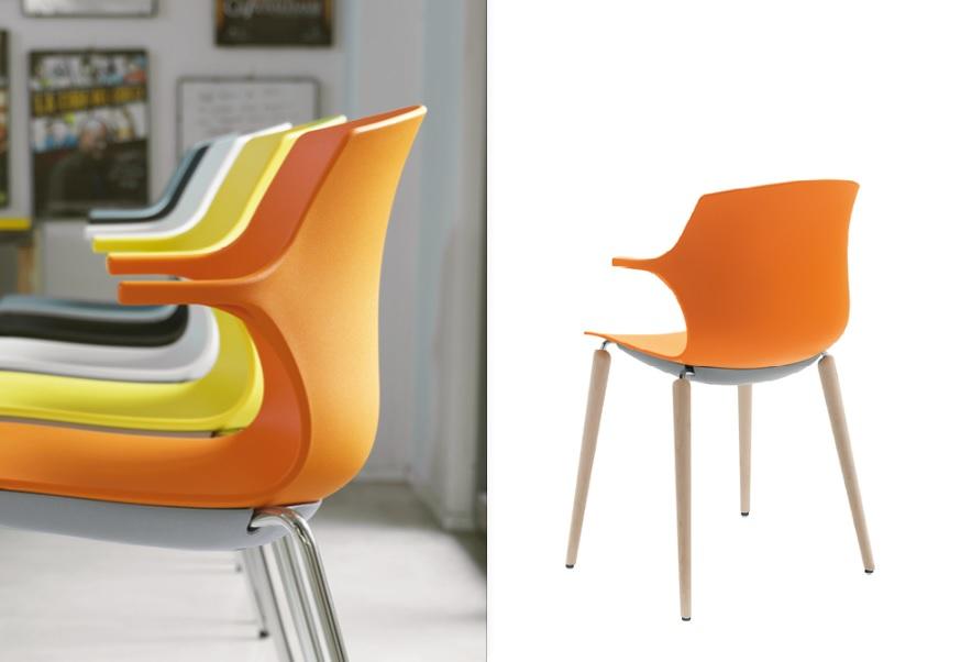 Frill sedia colorata collettività attesa - Riganelli Arredamenti