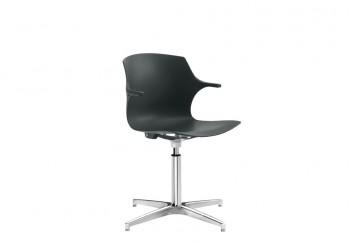 Frill sedia nera polipropilene di design - Riganelli Arredamenti