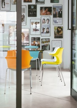 Frill sedie per ufficio colorato - Riganelli Arredamenti
