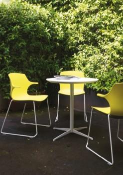 Frill sedute colorate ambienti pubblici per comunità - Riganelli Arredamenti