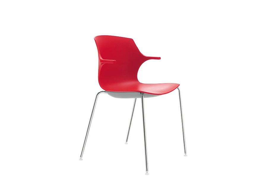 Sedia in polipropilene colorata attesa collettività - Riganelli Arredamenti