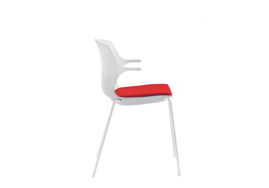 Frill sedia impilabile colorata per la casa locali pubblici ufficio riunione - riganelli