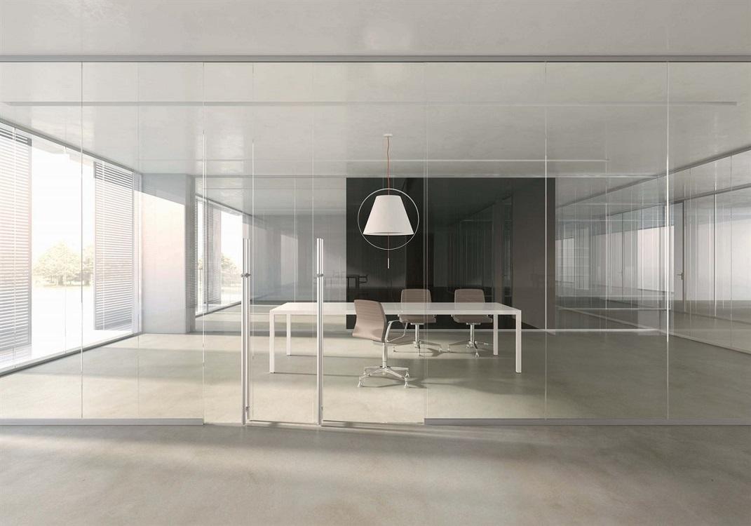 Monovetro-parete-divisoria-in-vetro-Riganelli-Arredamenti