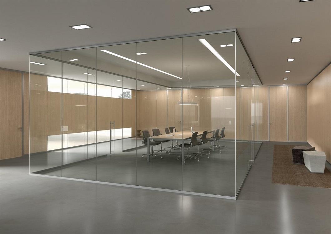 Monovetro-pareti-divisorie-in-vetro-box-ufficio-Riganelli-Arredamenti