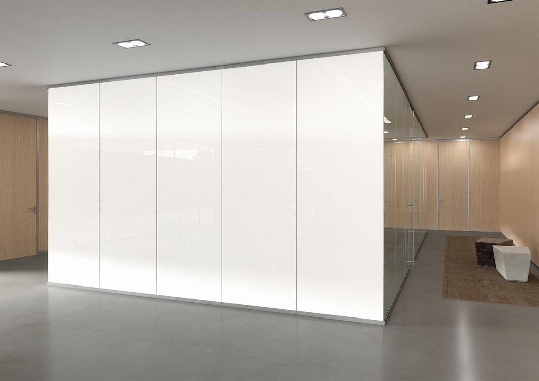 Monovetro-pareti-divisorie-uffici-box-in-vetro-satinato-privacy-Riganelli-arredamenti