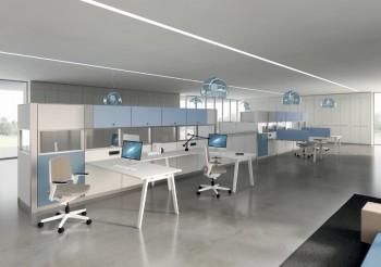 Divisori attrezzabili open space - Riganelli Uffici