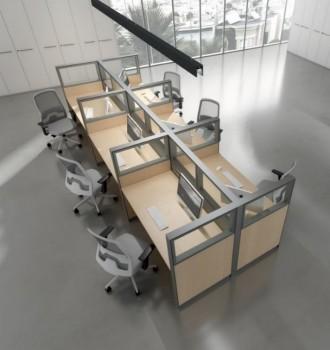 Divisori open space ufficio multipostazione - Riganelli Arredamenti