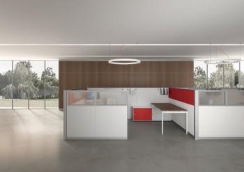 Divisorio ufficio open space privacy - Riganelli Arredamenti