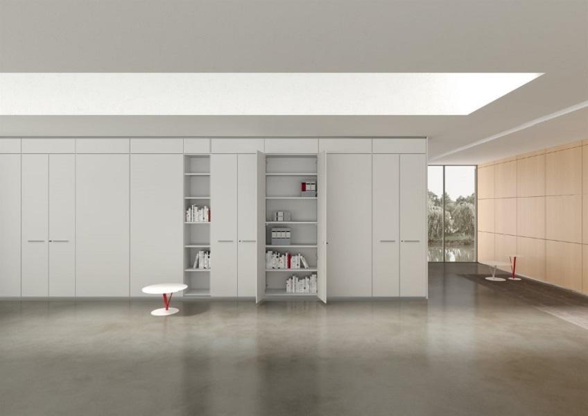 Parete attrezzata armadio per ufficio - Riganelli Arredamenti