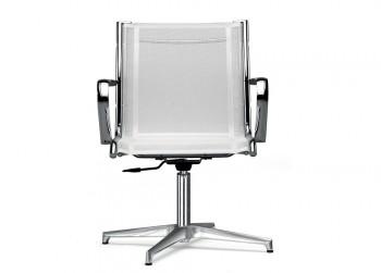 Retex sedia girevole in rete bianca design - Riganelli Arredamenti