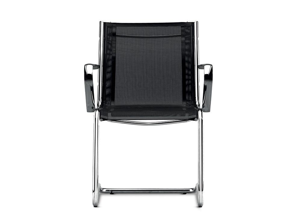 Retex seduta base slitta in rete bianca o nera - Riganelli Uffici