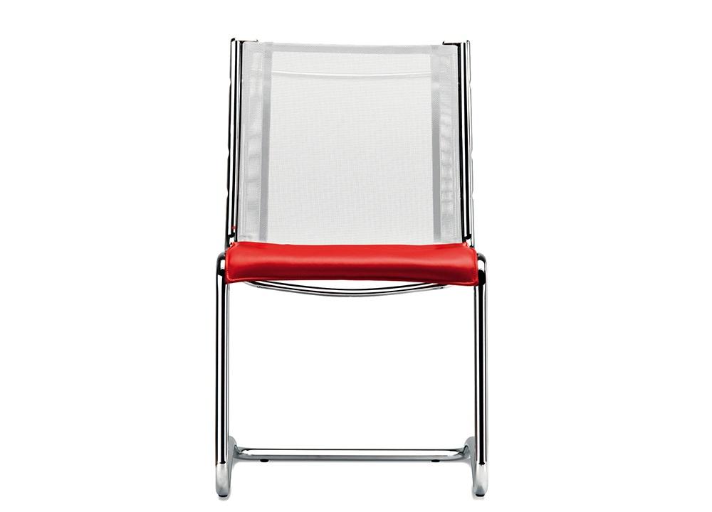 Retex seduta base slitta sedile rivestitito schienale rete sala riunione ricevimento ospiti - Riganelli Arredamenti