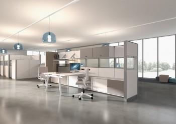 Ufficio open space con divisori - Riganelli Arredamenti