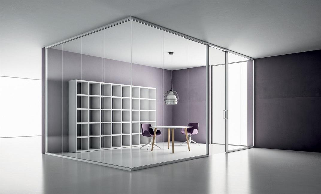 pareti divisorie in vetro - riganelli