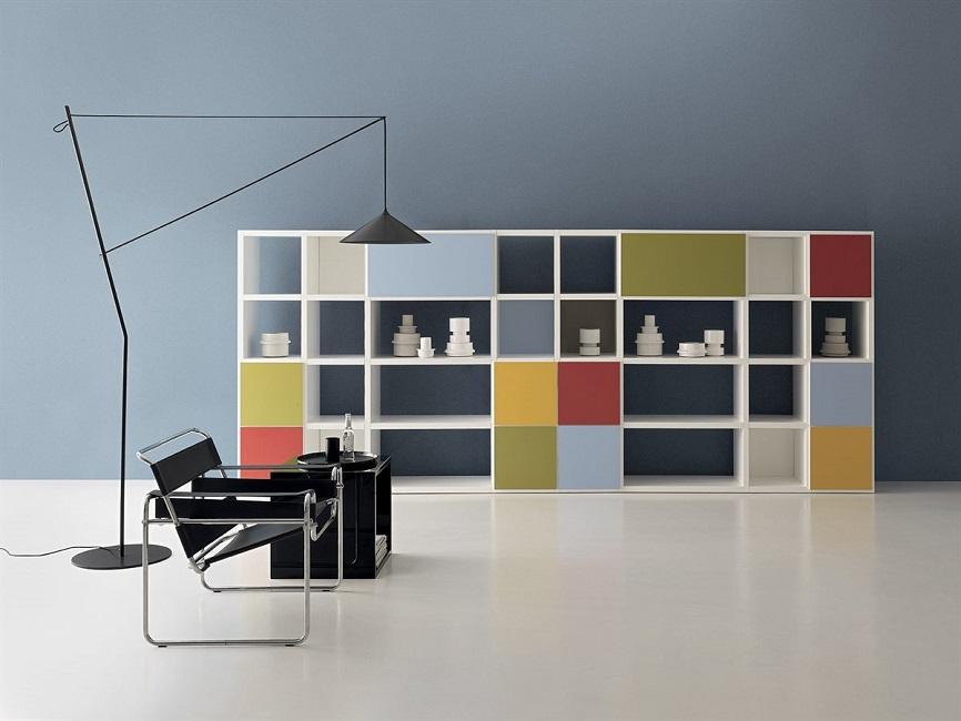 RIGA Librerie-componibili-colorate-Riganelli-Arredamenti